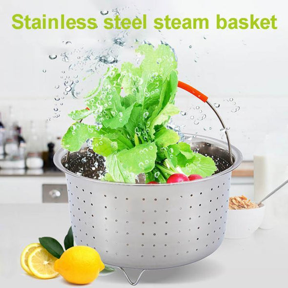 Newly Steamer Basket Stainless Steel Vegetable Drain