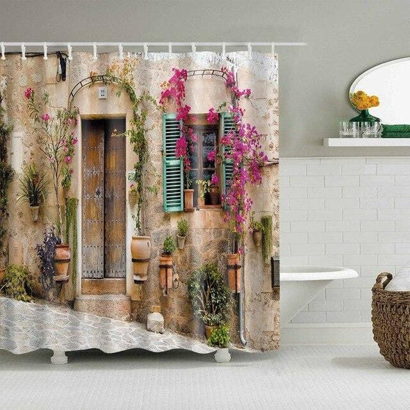 Library Bookcase Lover Waterproof Shower Curtain