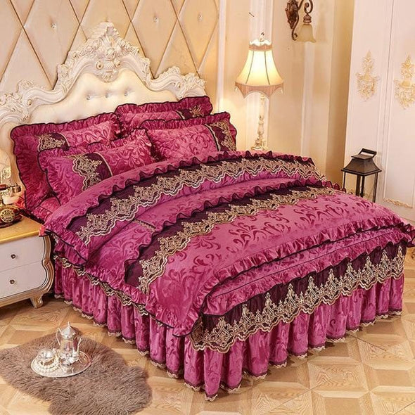 Princess Lace Warm Velvet Quilt Cover
