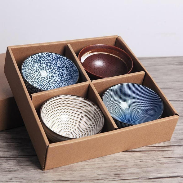 4 Set Japanese Traditional Style Bowls