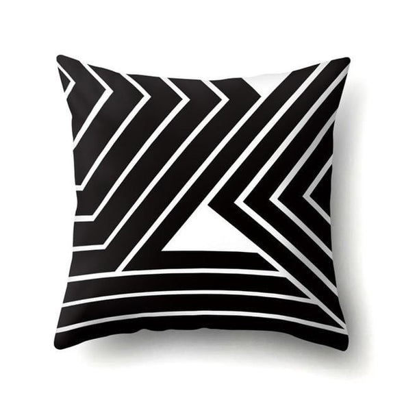 Geometric Polyester Cushion Cover