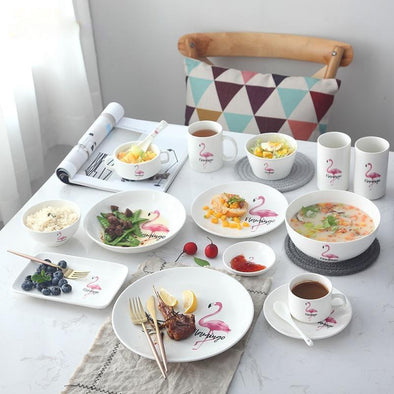 Flamingo Ceramic Tableware Set
