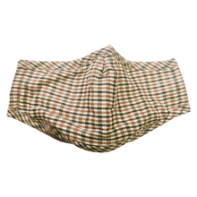 Load image into Gallery viewer, Beige Plaid Face Mask with Filter Pocket, Nose Wire and Adjustable Straps