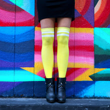 Load image into Gallery viewer, Yellow Knee High Socks