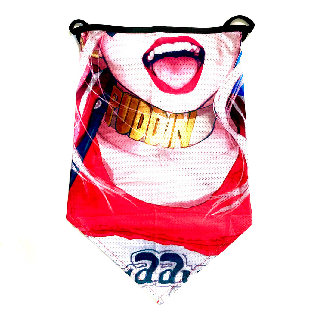 Harley Quinn Inspired Neck Gaiter with Ear Loops