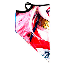 Load image into Gallery viewer, Harley Quinn Inspired Neck Gaiter with Ear Loops