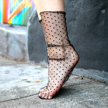 Load image into Gallery viewer, Tulle Sheer Lace Socks