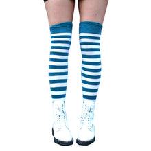 Load image into Gallery viewer, Pippi Longstocking Inspired Elf Girl Thigh High Socks