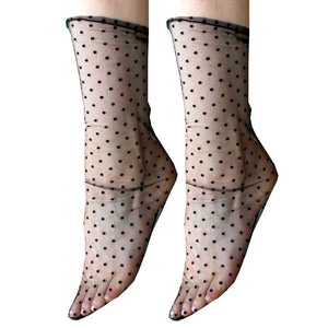 Tulle Sheer Lace Socks