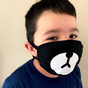 Bear Face Mask with Animal Design