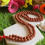 Red Goldstone Japa Mala