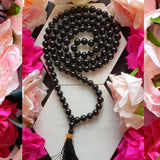 Black Tourmaline Japa Mala: For Protection From Evil Eye