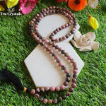 Rhodonite Japa mala: For Unconditional Love