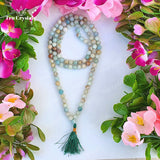 Amazonite Japa Mala: For Stress & Trauma Relief