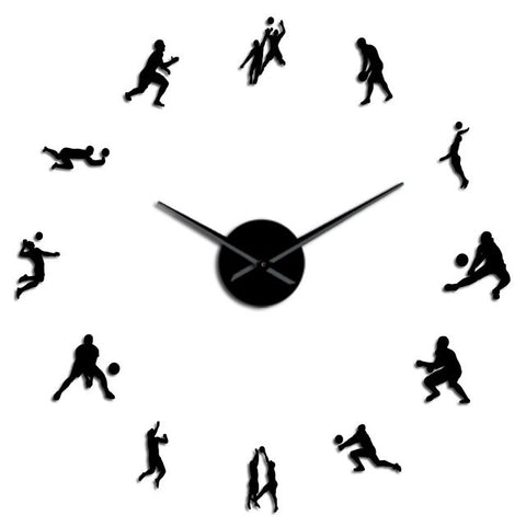 Horloge Murale Géante <br> Volley-ball