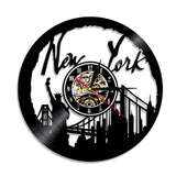 Horloge new york vinyle