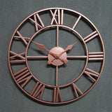 Horloge industrielle rose