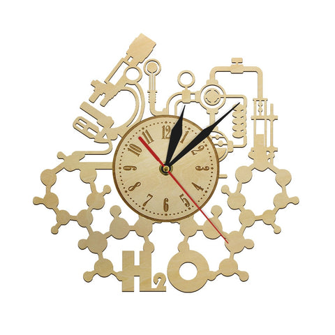 Horloge Bois <br /> Scientifique