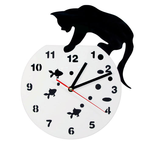 Horloge Originale <br /> Chat Noir