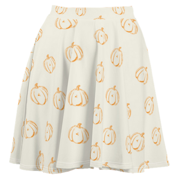 Fall Pumpkin Halloween Skirt