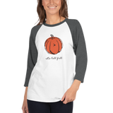 Fall women's raglan t-shirt, Pumpkin shirt, Halloween shirt