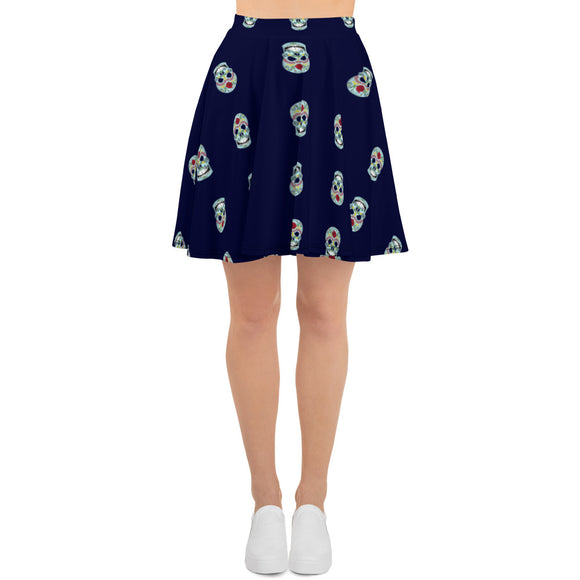 Sugar Skull Women's Halloween Skirt