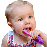 Trueocity Baby Toothbrush 4 Pack & Bonus Silicone Finger Brush, Soft Bristles, Toddler Toothbrushes, Infant & Training w/Teething Handle, 0-2 Years