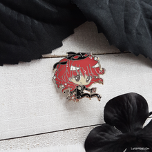 Load image into Gallery viewer, Red Head Thief Enamel Pin
