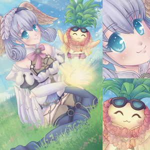 Xenoblade Chronicles Bird Lady and Pineapple Print