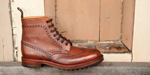 Leather Broque Boot, Sanders and Sanders