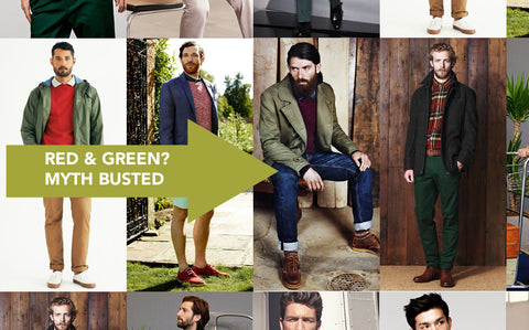 Red and Green Mens Style