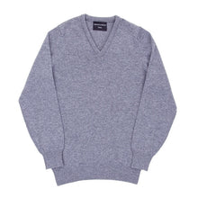 Dove Grey Lambswool V-Neck Pullover