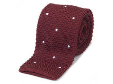 George Red & Sky Knitted Necktie