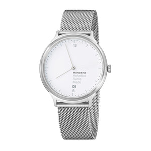 Helvetica No1 Light 38mm White Dial Steel Strap