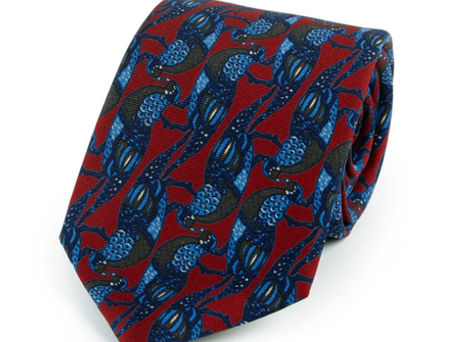 Amherst Red Printed Necktie