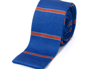 New Haven Blue & Orange Knitted Necktie