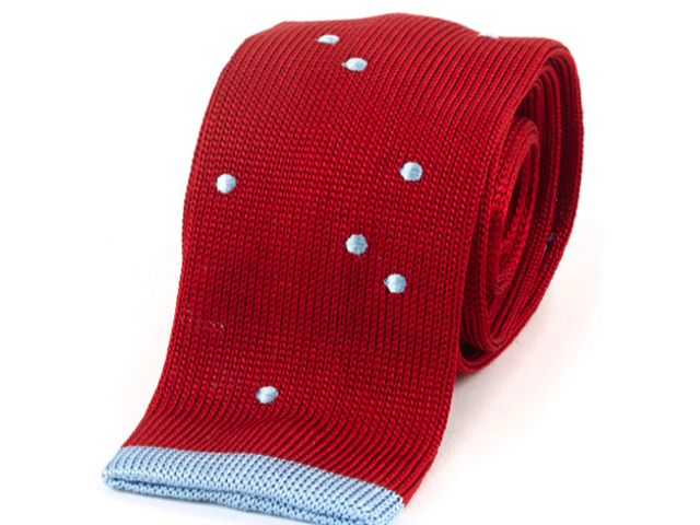 Maverick Red Knitted Necktie