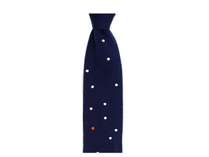 Maverick Blue Cashmere Knitted Necktie