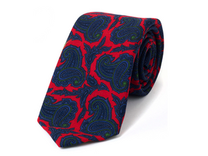 Wyken Red Printed Necktie