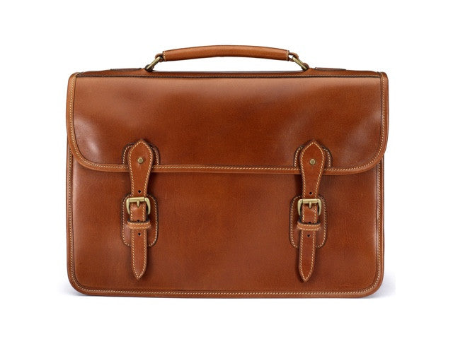 Wymington Briefcase in Light Tan Miret Bridle Leather