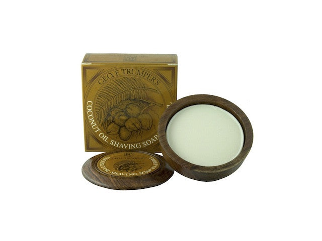 Coconut Oil Hard Shaving Soap in a Bowl - 80g