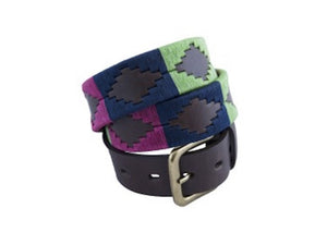 Berry, Green & Navy Polo Belt 185