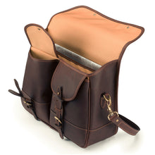 Clipper Leather Satchel in Sundance Floodlight