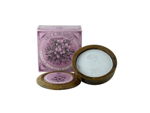 Violet Hard Shaving Soap in a Bowl - 80g