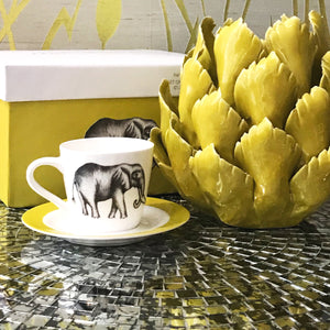 Elephant Espresso Cups with Saucer