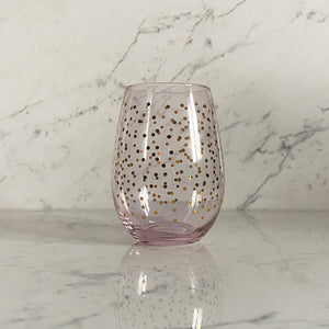 Wine Goblet with Mini Dots