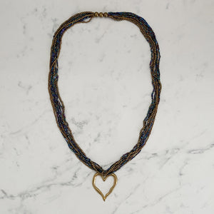 Beads Beaten Heart Necklace