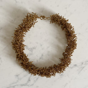 Bronze Beaded Sea Urchin Necklace