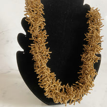 Load image into Gallery viewer, Bronze Beaded Sea Urchin Necklace