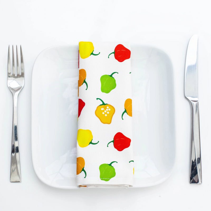 SCOTCH BONNET PEPPER NAPKINS x 4